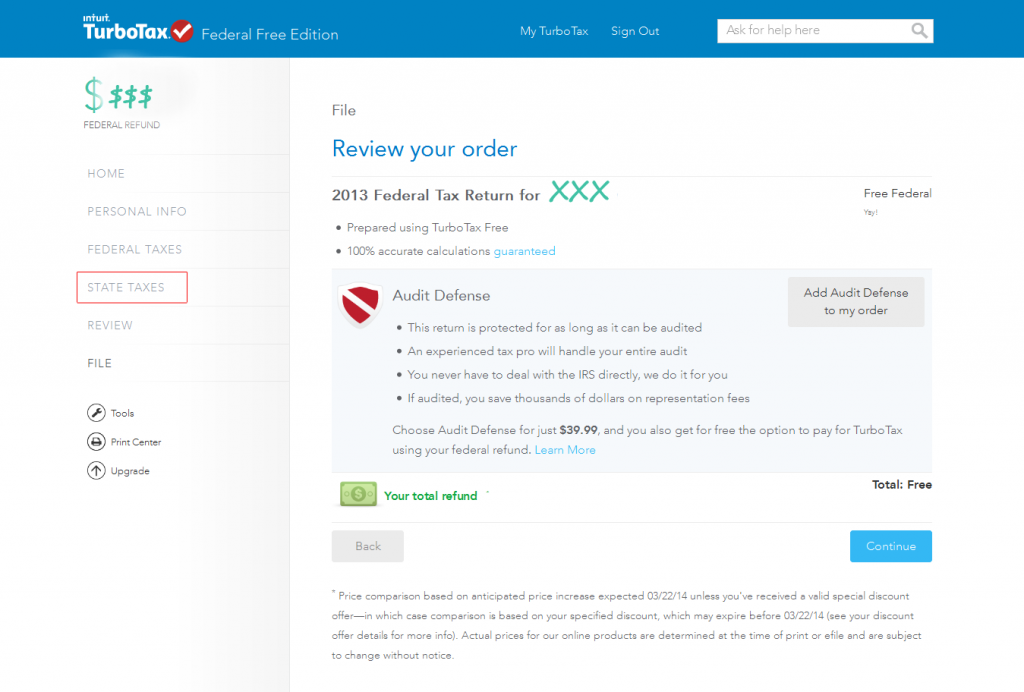 TurboTax Online - Federal Free Edition 2013